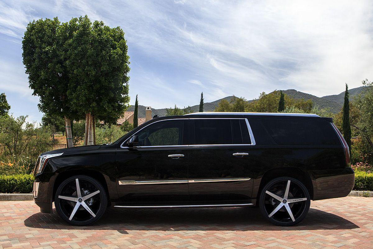 "26"" Lexani Wheels R Four SUV in Gloss Black Machined on a 2015"