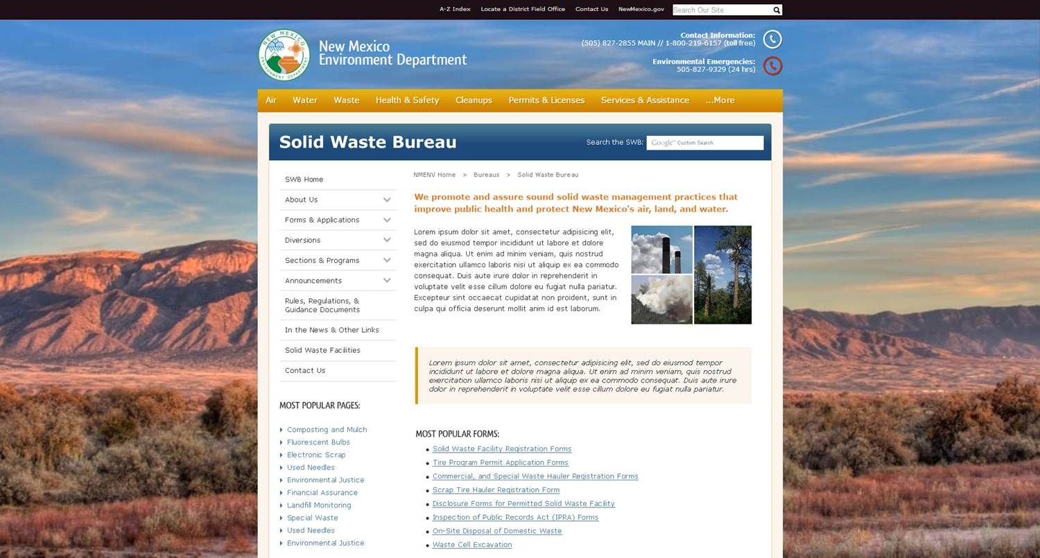 Updated Web Design For Nm Environment Department Webdesign Government Governmentdesign Governmentwebsites Web Design Environment Government