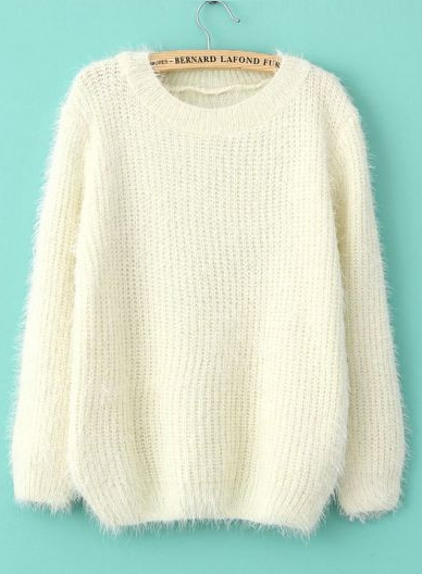 Ever Ours — CREAM FLUFFLY JUMPER