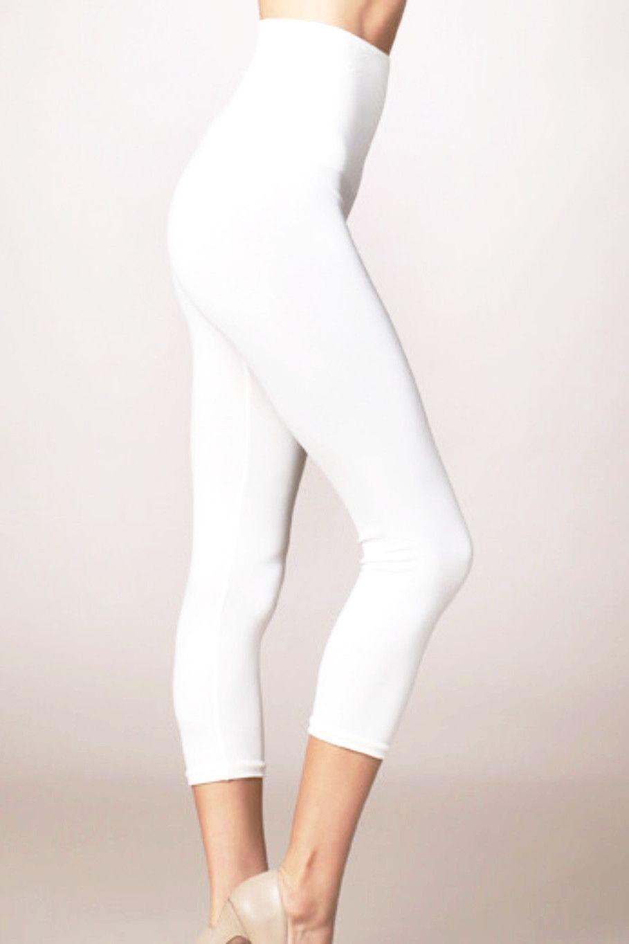 M Rena Tummy Tuck Capri Leggings Off White