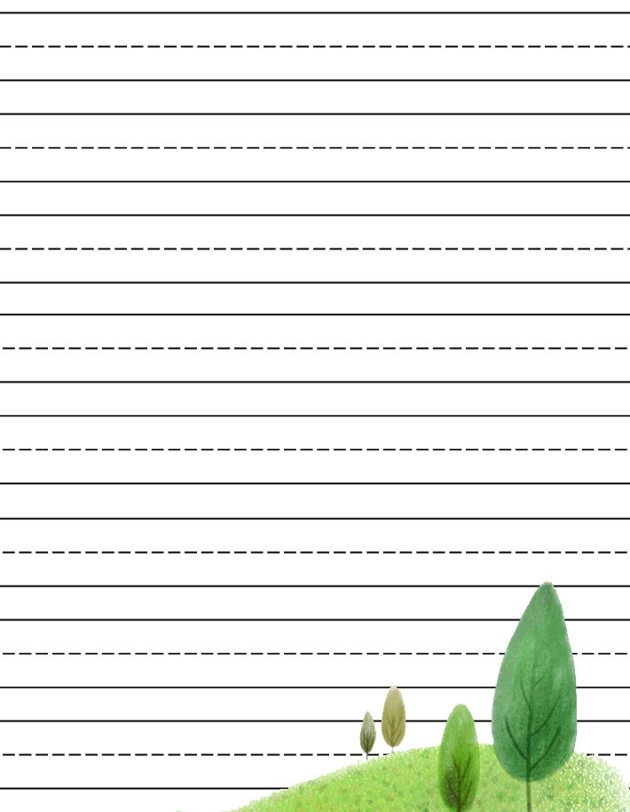 Free Printable Kids Stationery, Free Primary Lined Writing Paper