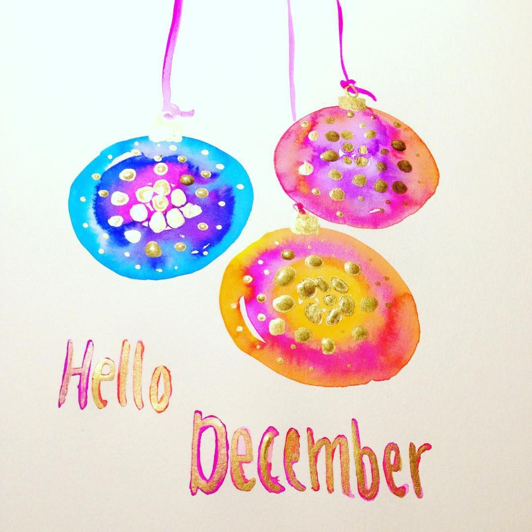 Nice Hello December!! I Added Some Sparkling Gold To Welcome This Wonderful Month