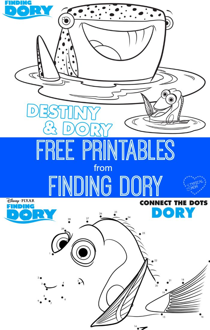 Free coloring pages, dot to dot and mazes from the movie Finding - new pixar coloring pages finding nemo