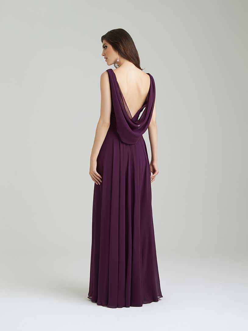 5b9330cd4a Allure Bridesmaids Gown Style  1455 with V-cut neckline