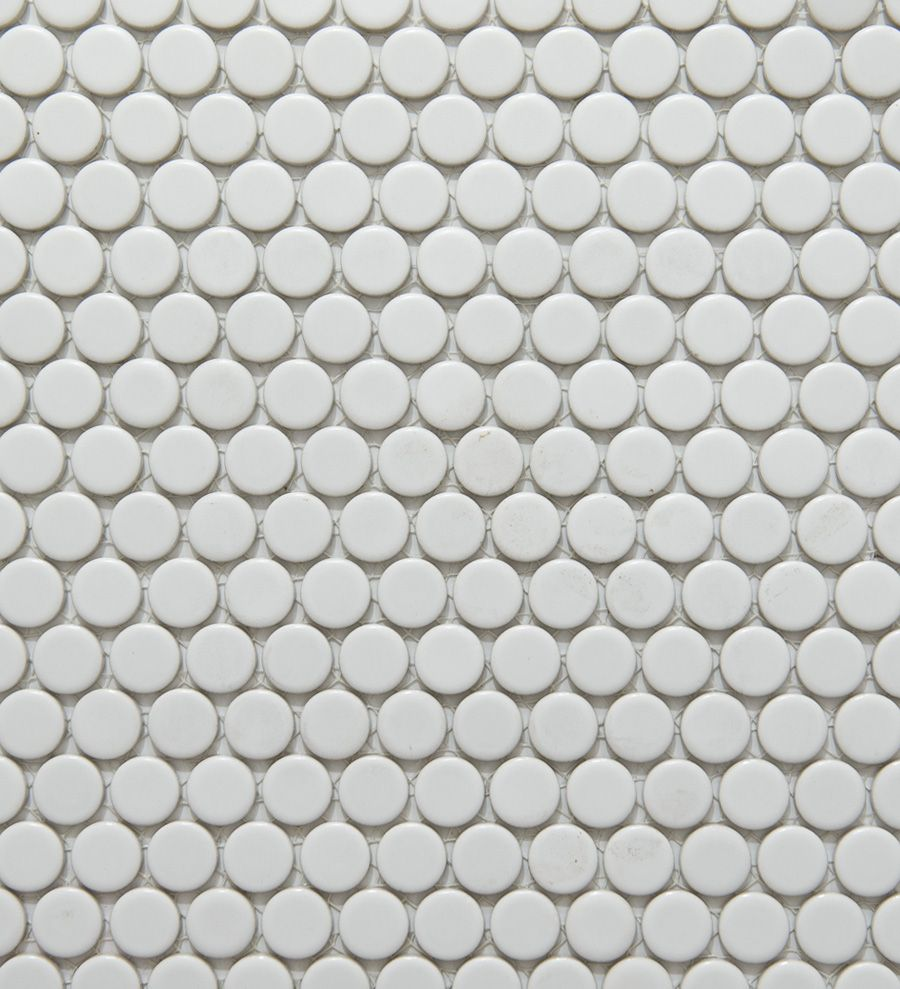 Academy Tiles Ceramic Mosaic Glazed Penny Rounds 81980