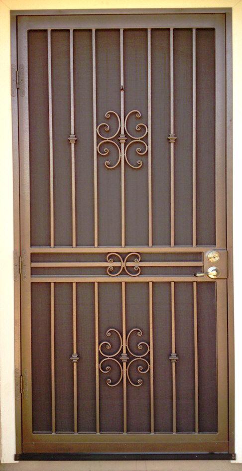 Custom Security Doors Phoenix Photo Gallery Aaa Sun Control Ventanas De Metal Puertas De Hierro Diseno De Puerta De Hierro
