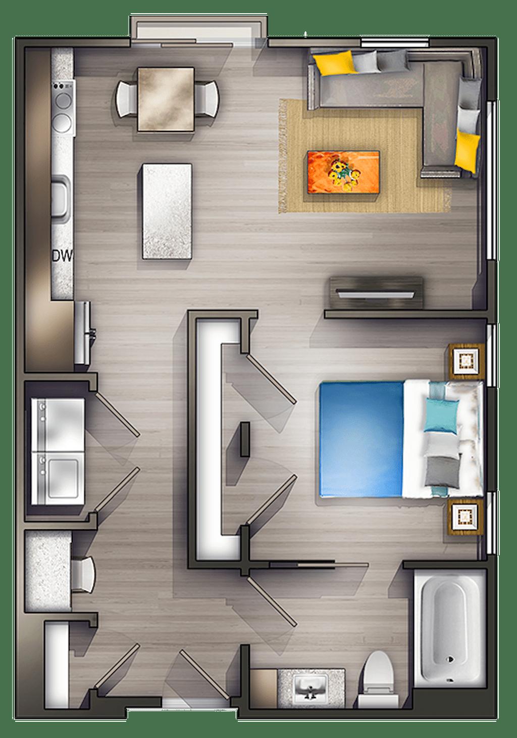 Small Studio Apartment Layout Design Ideas 5 Home Design