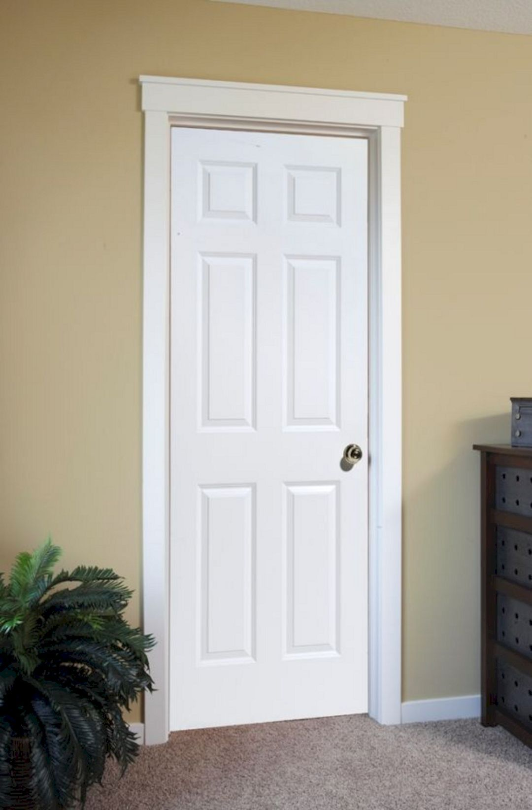 40 marvelous white trim with stained door ideas