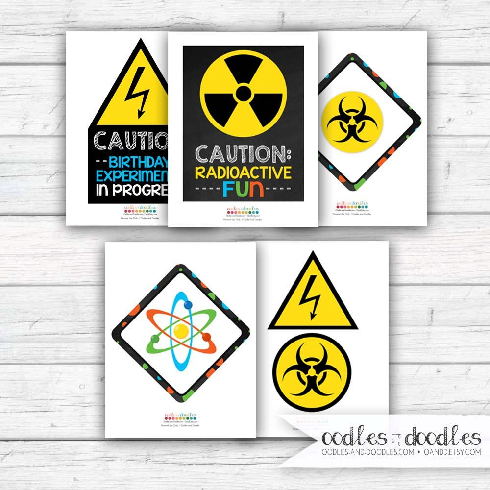 photograph relating to Printable Mad Science Sign known as Science Birthday Bash Signs and symptoms, Crazy Scientist Decorations