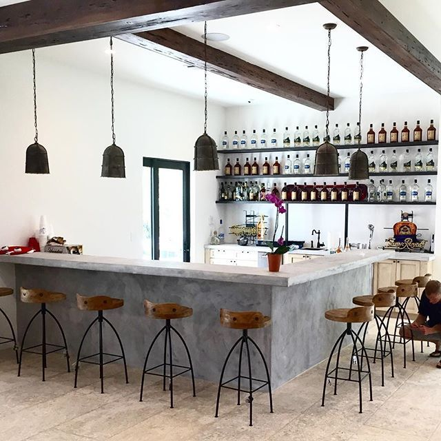 The bar is getting there in our Florida project!! (Few tweaks to go with the shelf design/ lights but getting close!!)
