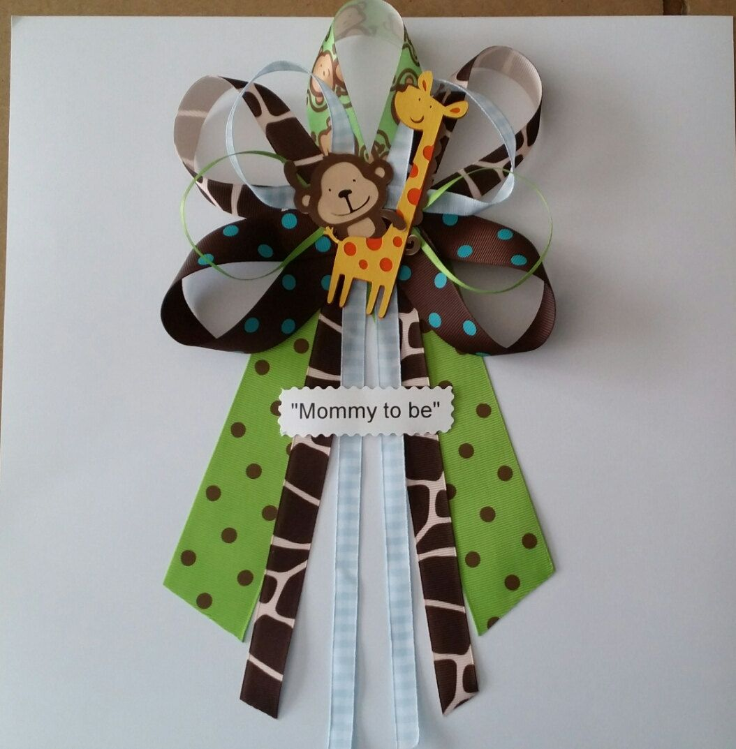 Blue JUNGLE theme Monkey and Giraffe baby by diapercake4less