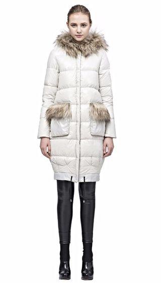 Jackets Fur Coats Snowman Trim Snow Coat Polished And City Faux 1qwrqI0H