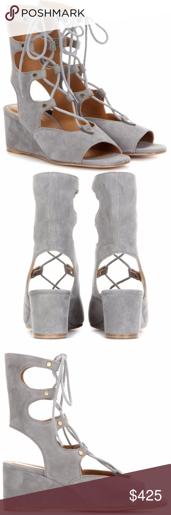 7f99dfedc19 Chloe Foster suede gladiator wedge sandals Hailed as the shoes of the  season by top fashion