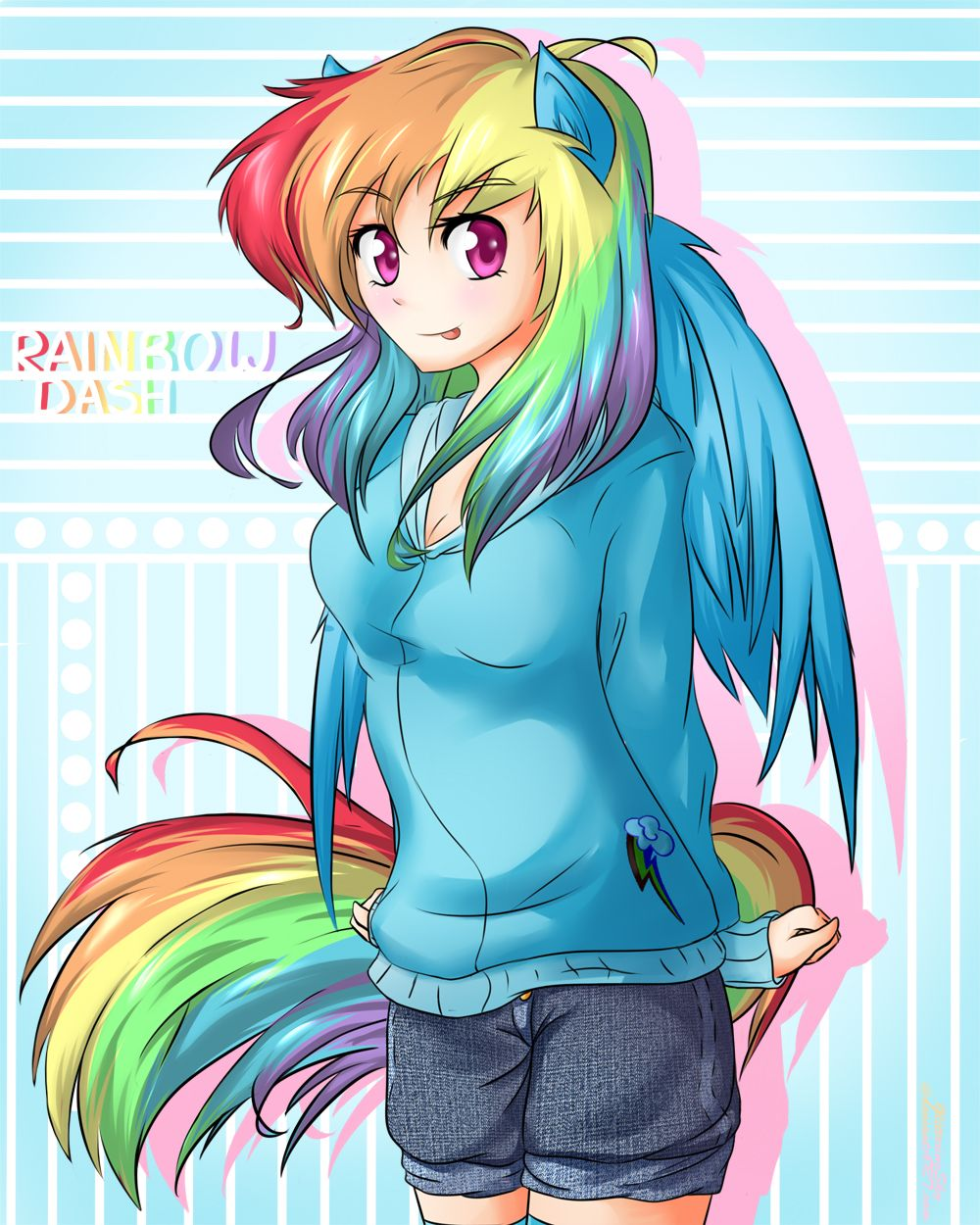 Rainbow Dash - Human by GlitteringSky.deviantart.com on ...