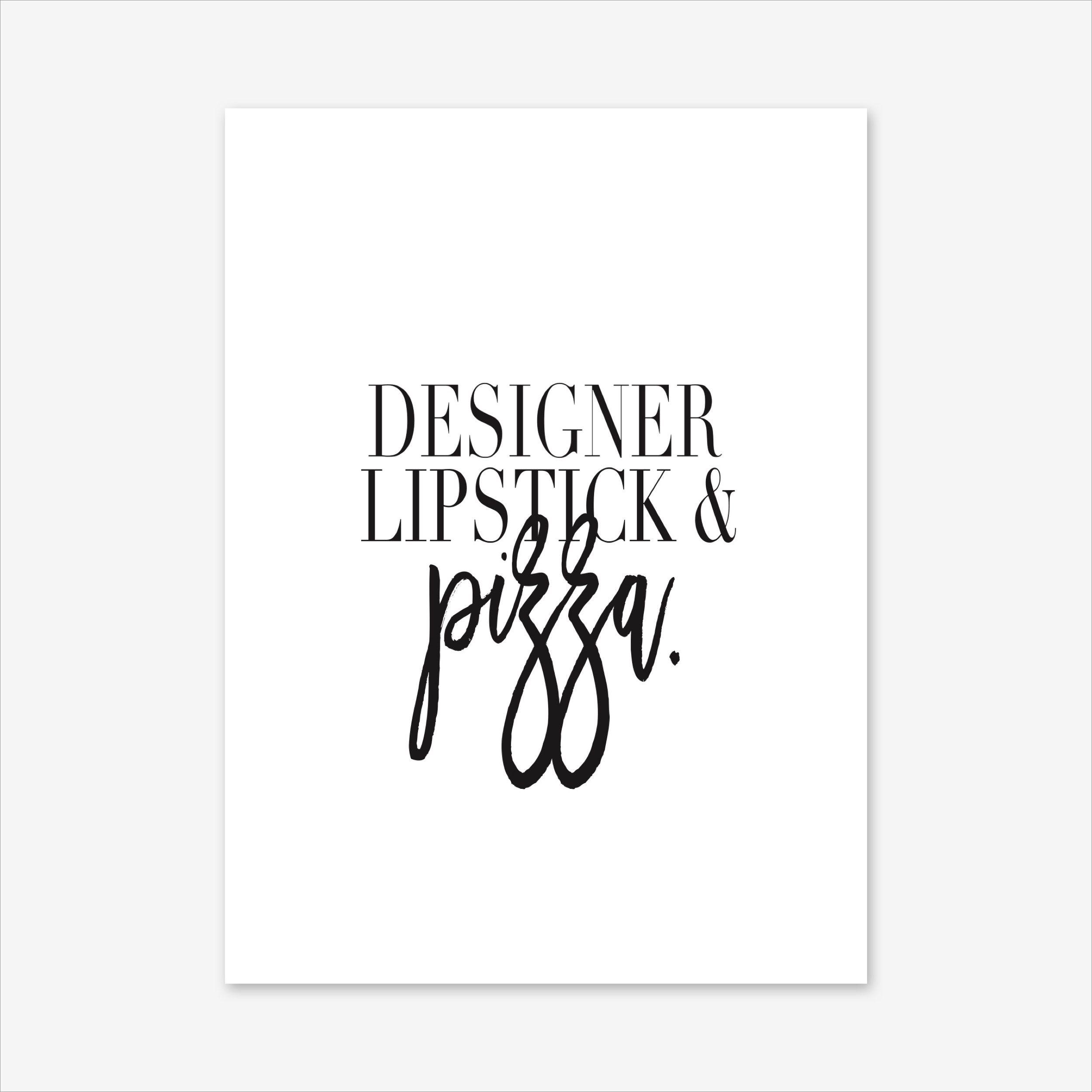 Designer Lipstick Art Print