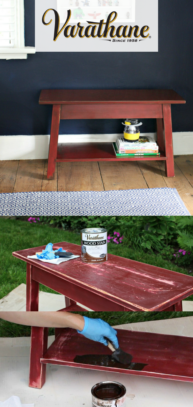 Whatever Project You Tackle Next Remember That Varathane Wood Stain Means Achieving True Color In One Coat Varathane Wood Stain Staining Wood Bookshelves Diy
