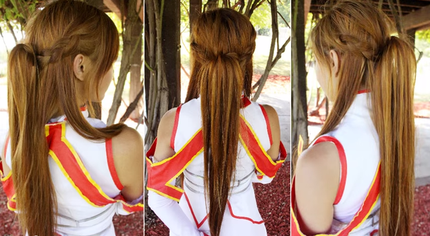 This Signature Asuna Do Is From The Anime Sword Art Online Hair Styles Famous Hairstyles Braided Hairstyles For Wedding