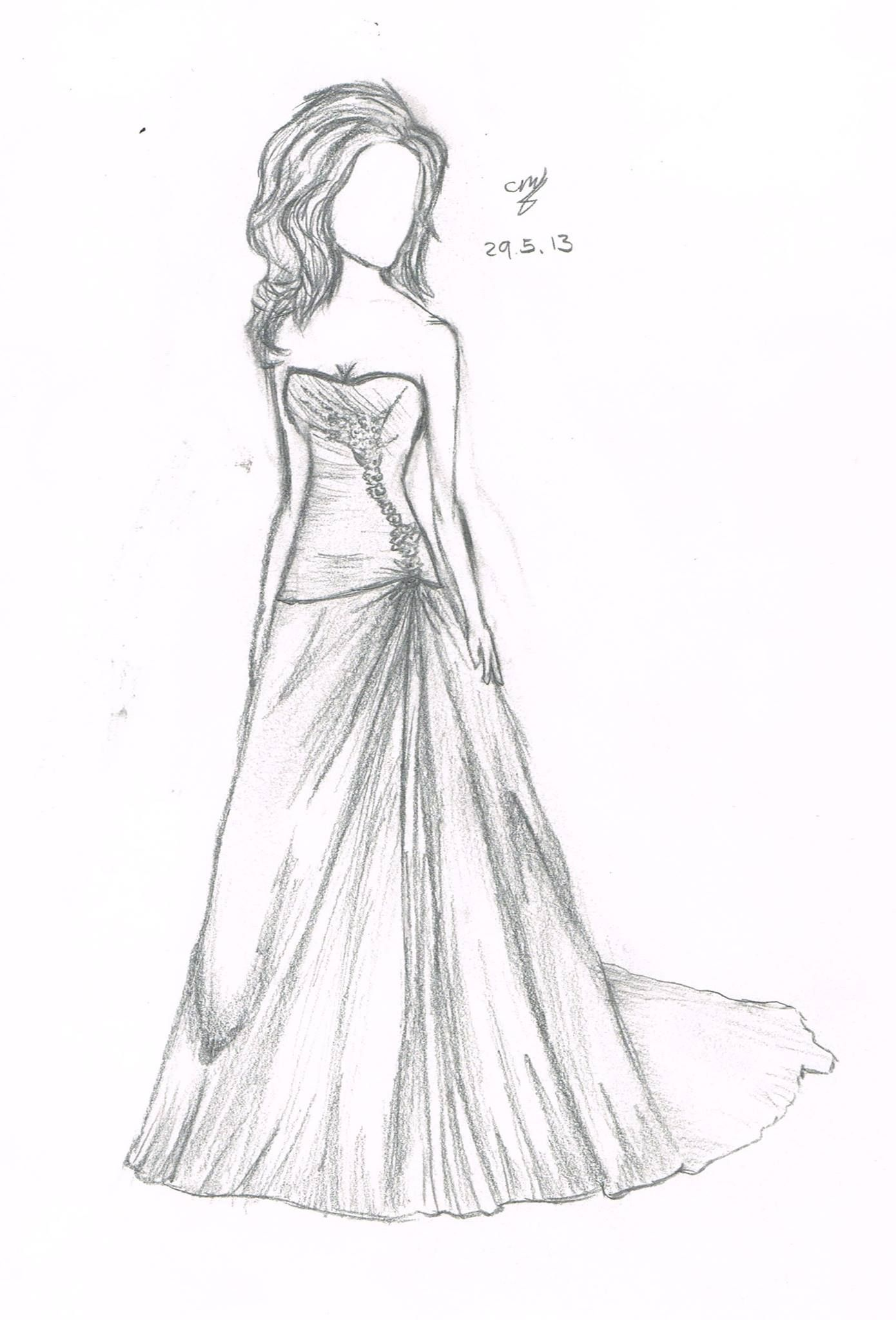 wedding dress anime drawing drawings pinterest