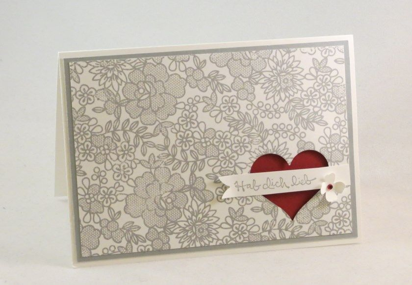 De   Valentinskarte Mit Something Lacy   Stampin Up