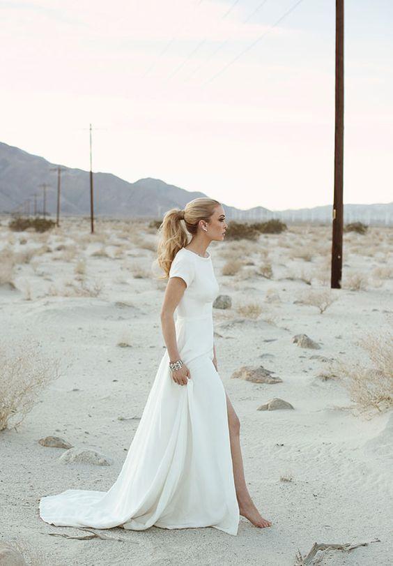 27 Wunderschöne Minimalistischen Brautkleider Für Moderne Bräute — Modekreativ.com