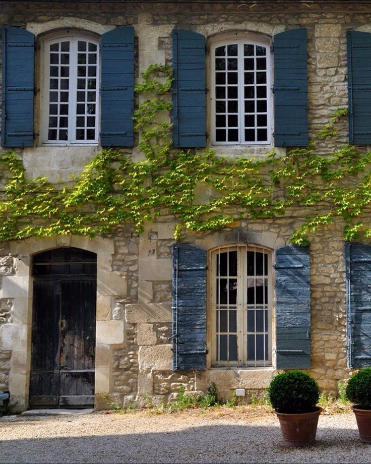 french country shutters