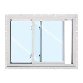 Reliabilt 150 Series Left Operable Vinyl Double Pane Single Strength New Construction Sliding Window Rough Opening 36 Sliding Windows Reliabilt Slider Window
