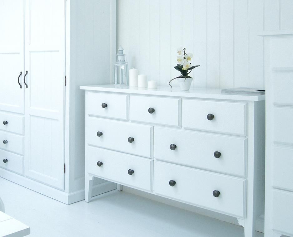 White Chest Of Drawers Bedroom New England Large White Chest Of