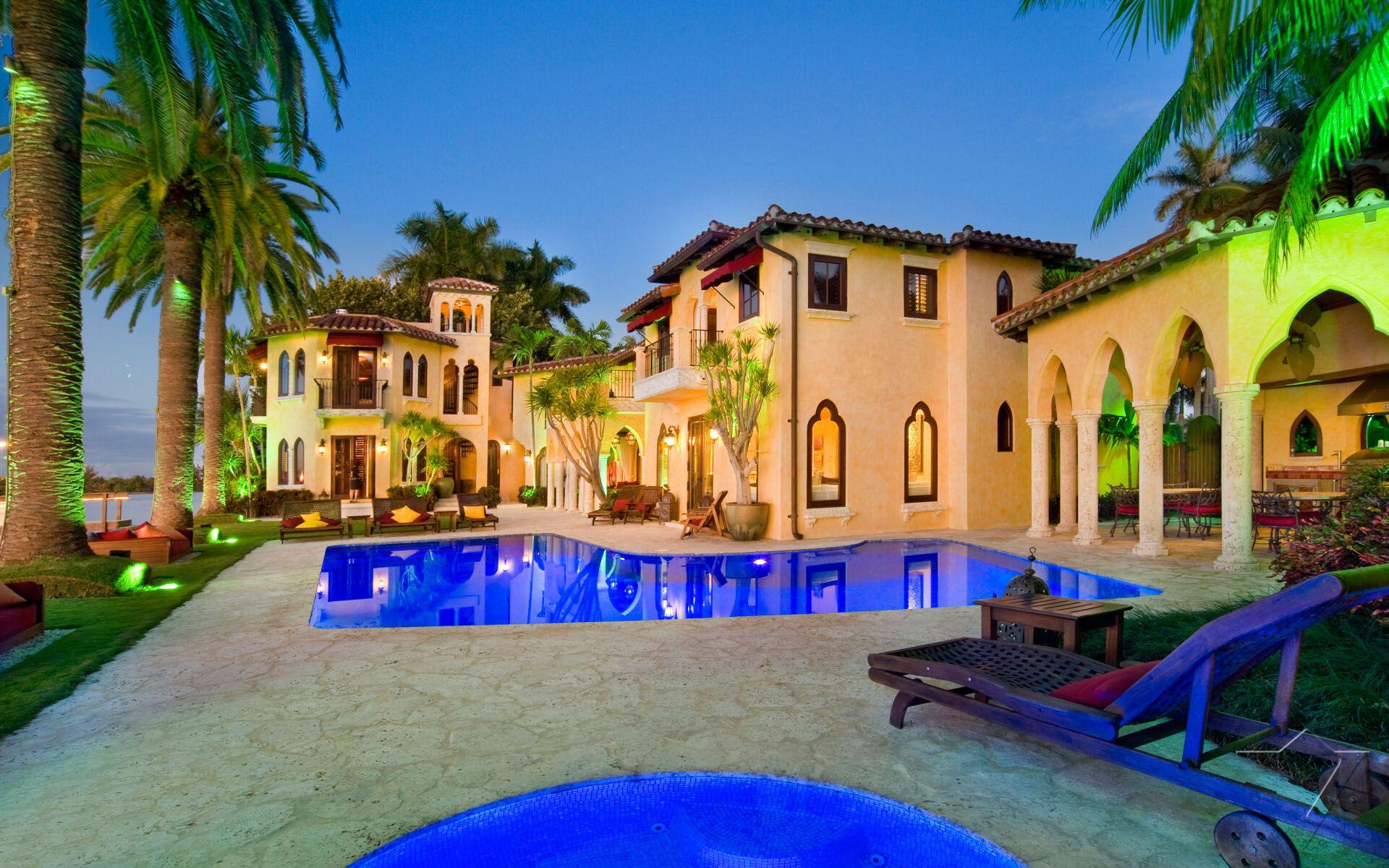 Villa jasmine luxury villa miami usa with exceptional for Villa luxe usa