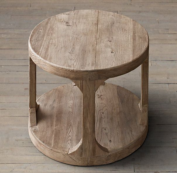Martens Round Side Table From Restoration Hardware