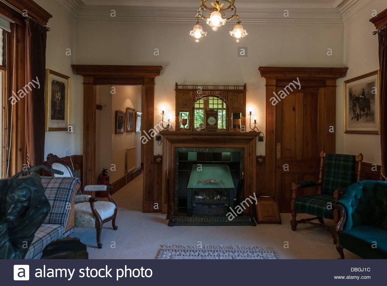 Download this stock image: Inside Garden Cottage, Balmoral Castle