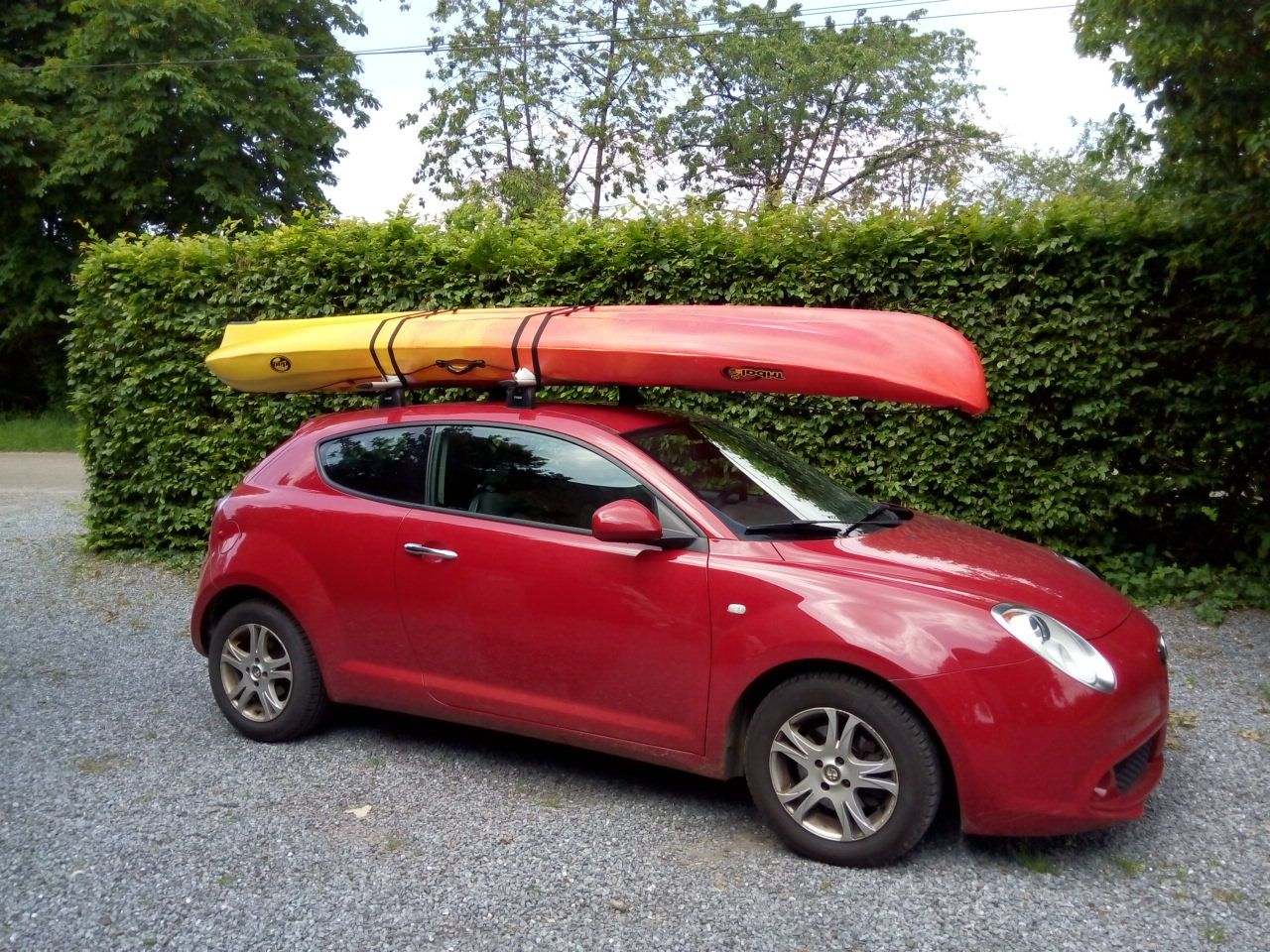 kayak sit on top dag tribal ocean sur alfa mito barres de toit thule wingbar sangles de. Black Bedroom Furniture Sets. Home Design Ideas