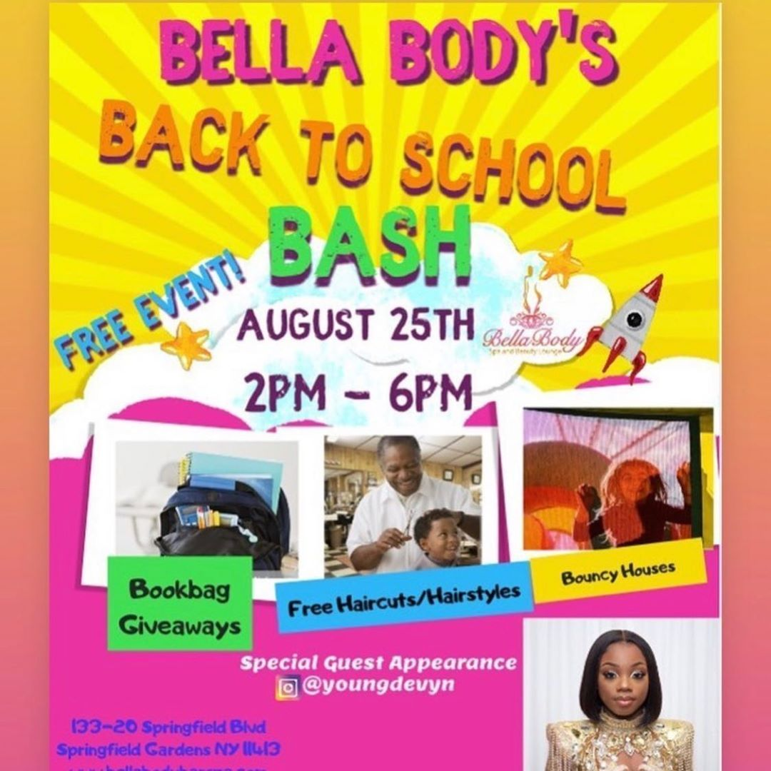 Hair Hairstyle Free Event Bellabodyspaandbeautylounge August 25th From 2pm 6pm 133 20 Springfield Blvd Springfiel Free Haircut Free Event Bouncy House