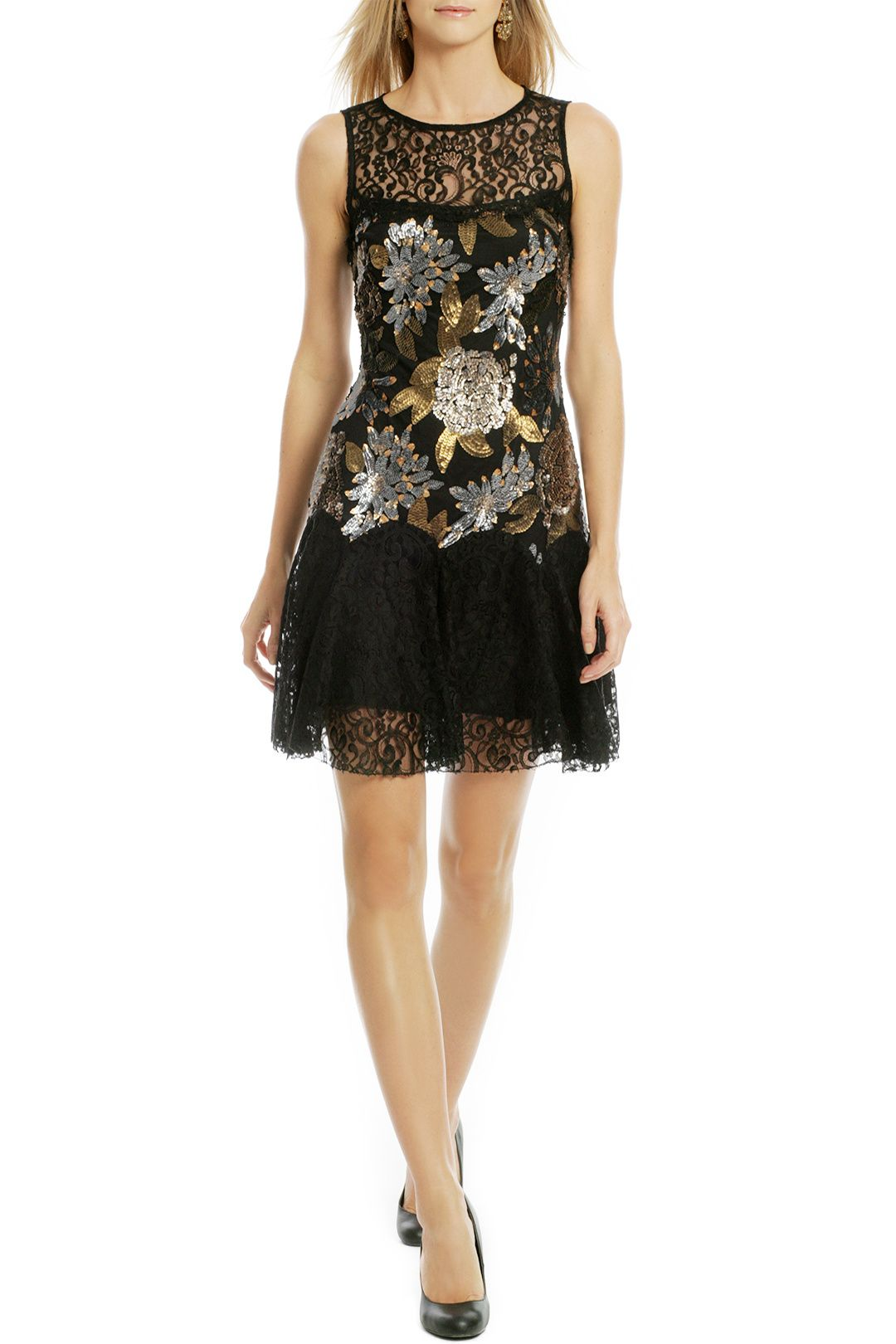 Like to party dress nicole miller designers and gold
