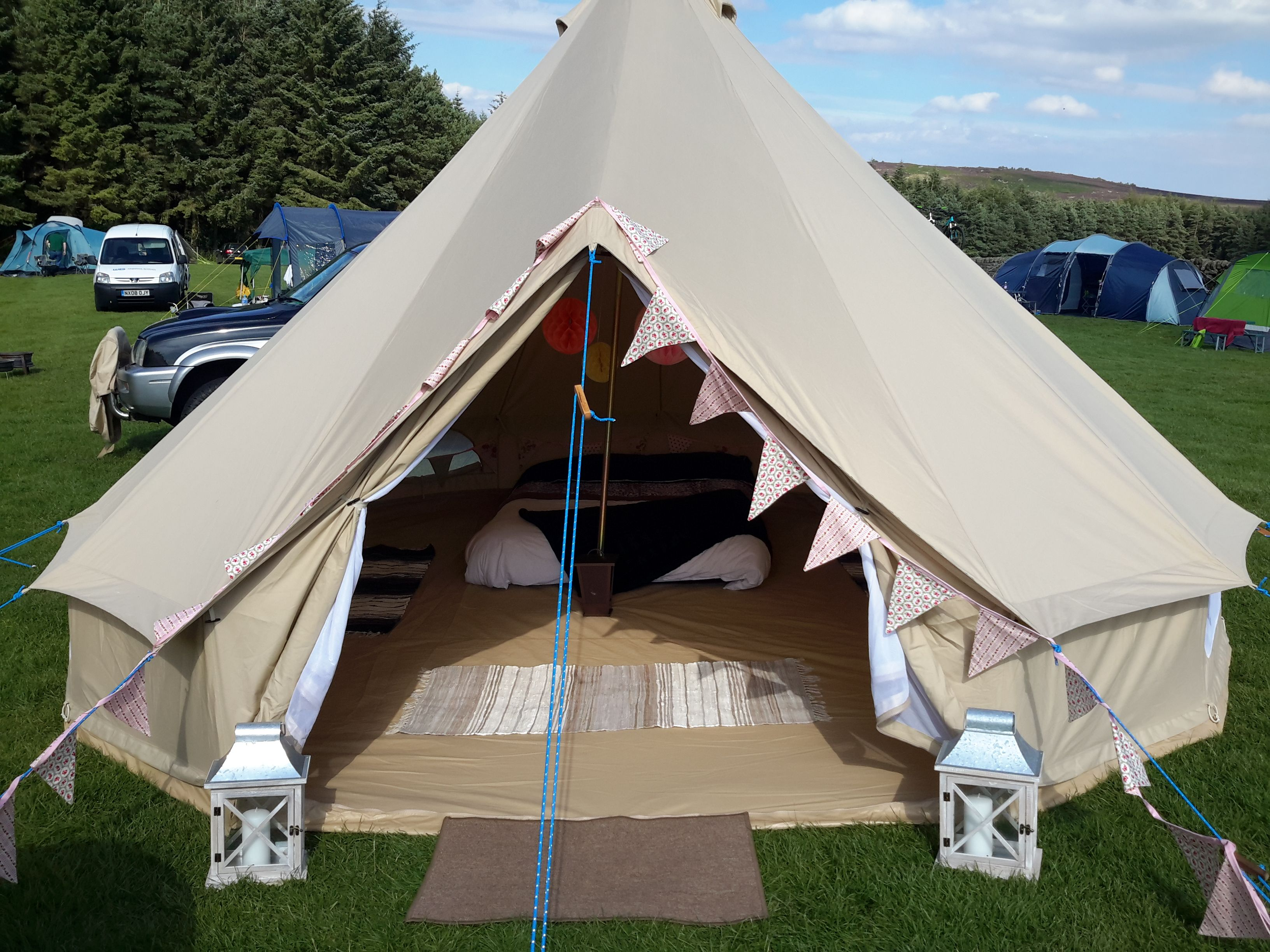 5m Bell tent & 5m Bell tent | Bell Tent Glamping | Pinterest | Tents