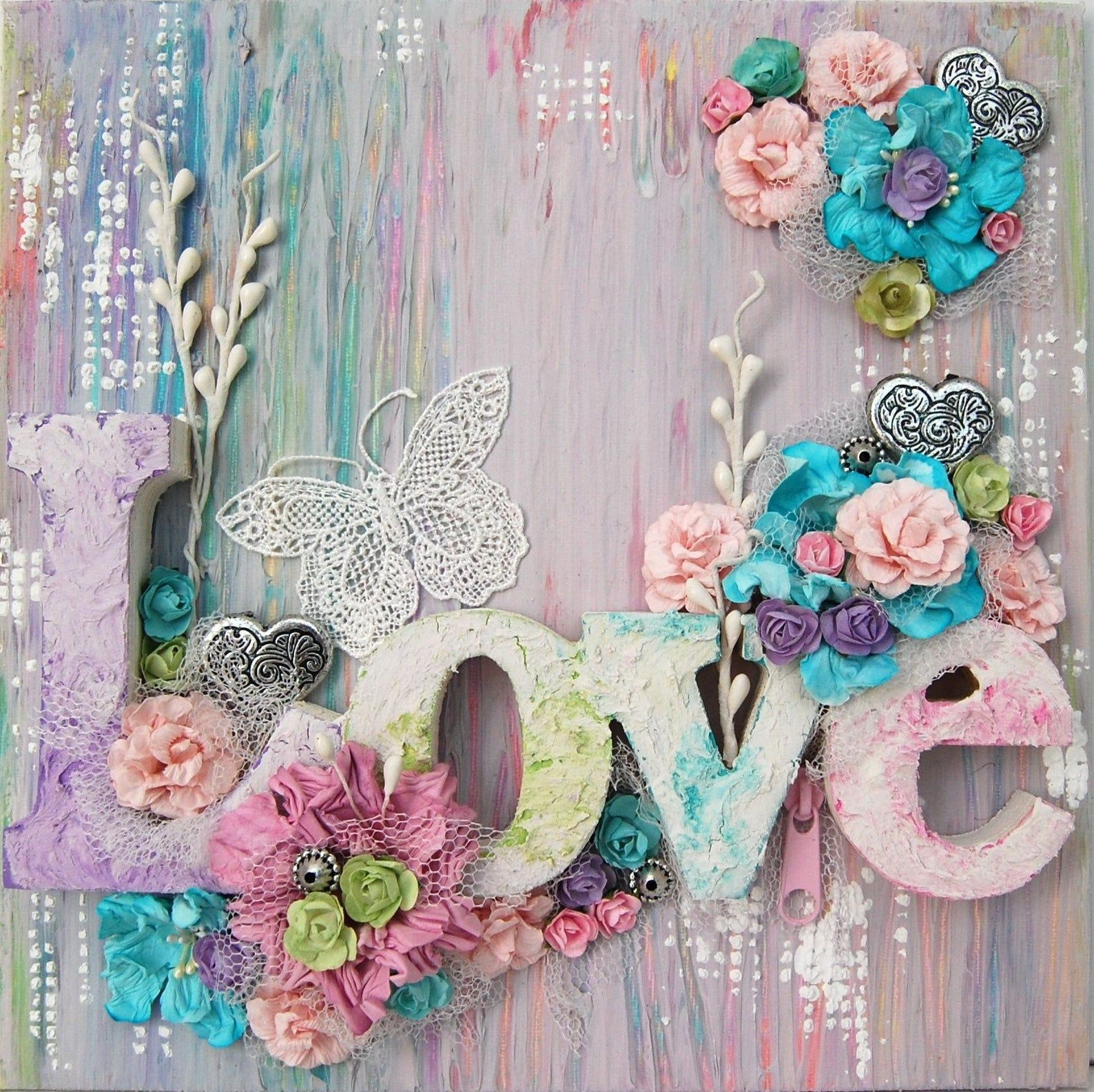 5D DIY Diamond Painting Kit Love Flower Butterfly Embroidery Cross Stitch Rhinestone Mosaic Painting Home Decor Gift