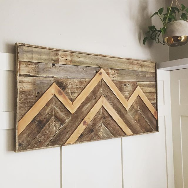 """This piece is called """"roughhewn,"""" and made from reclaimed lumber. Largest one yet at around 48x24.  Forsale now and available at #junkbonanza in September."""