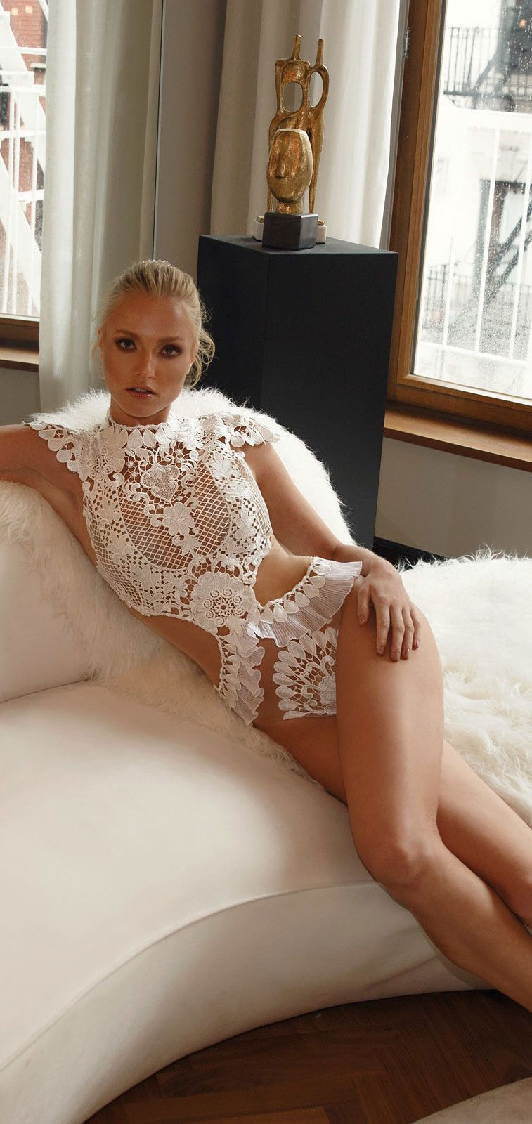 Lior Charchy NYC 2017 cap sleeves bridal fully embellishment body suit bridal lingerie lior charchy bridal #wedding #weddings #bride #bridaldress #weddinggown #bohemianweddingdress #boho