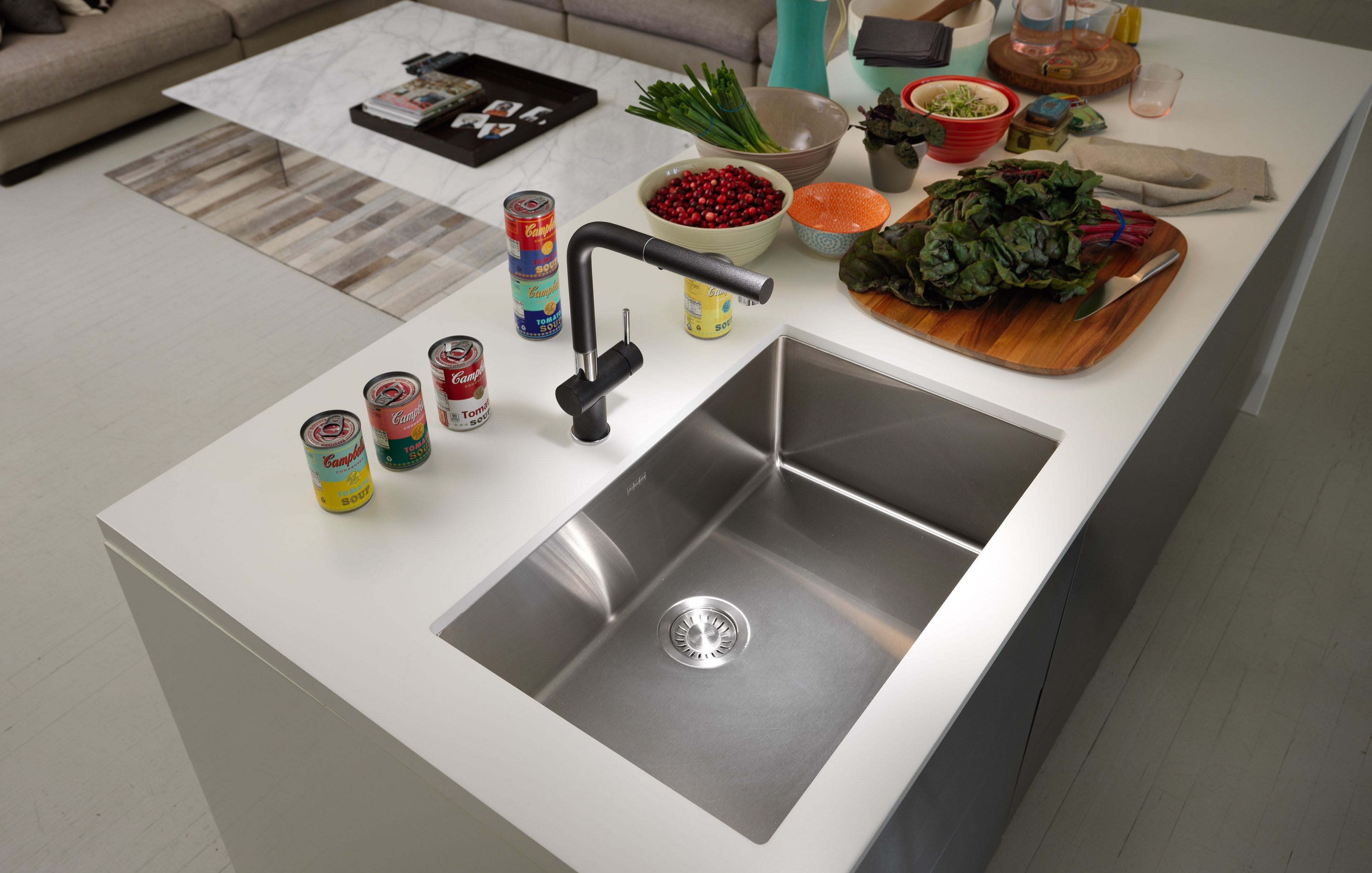 The Perfect Satin Finish On Frankeu0027s Cube Sinks Make Kitchen Clean Up A  Breeze.