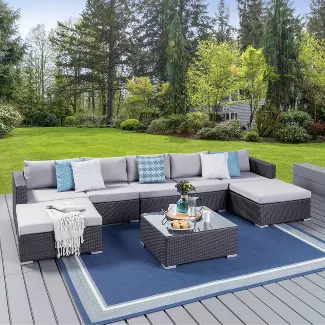 Shop Target For Outdoor Sectionals You Will Love At Great Low Prices Free Shipping On O In 2020 Wicker Outdoor Sectional Wicker Patio Sectional Outdoor Sectional Sofa