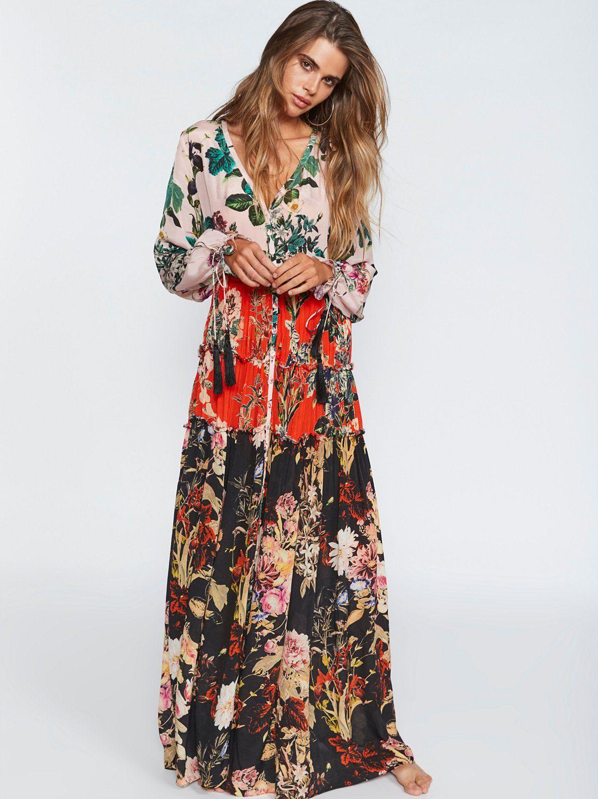 Mixed floral maxi dress dream closet i can never afford