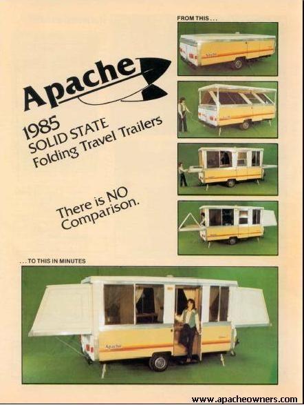 Page 1 Pop Up Tent Trailer Apache Camper Popup Camper