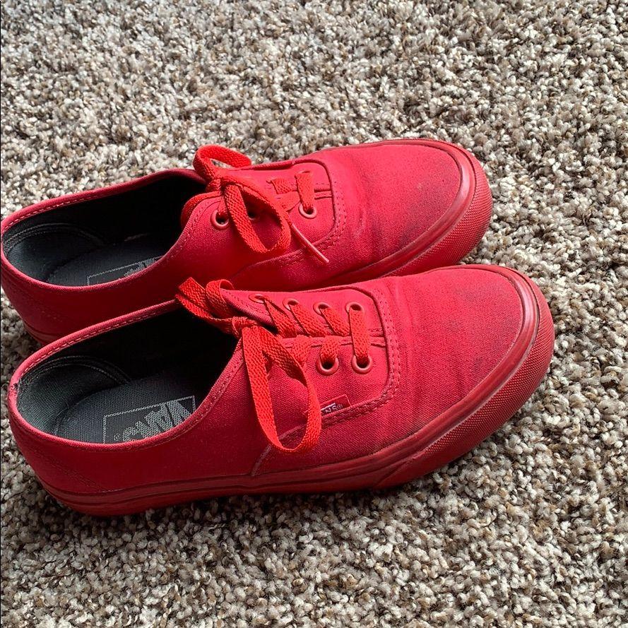 Vans Shoes | Red Vans | Color: Red