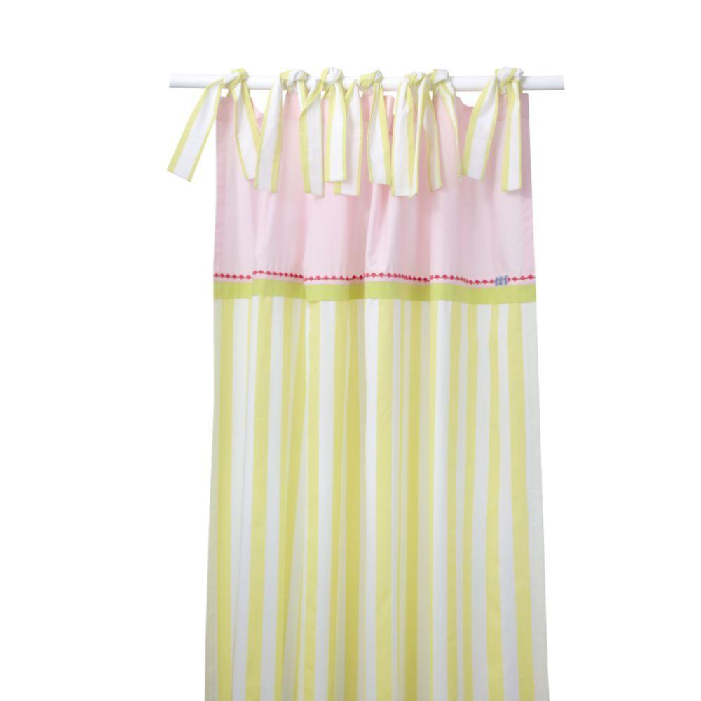 annette frank curtain maxi stripes green
