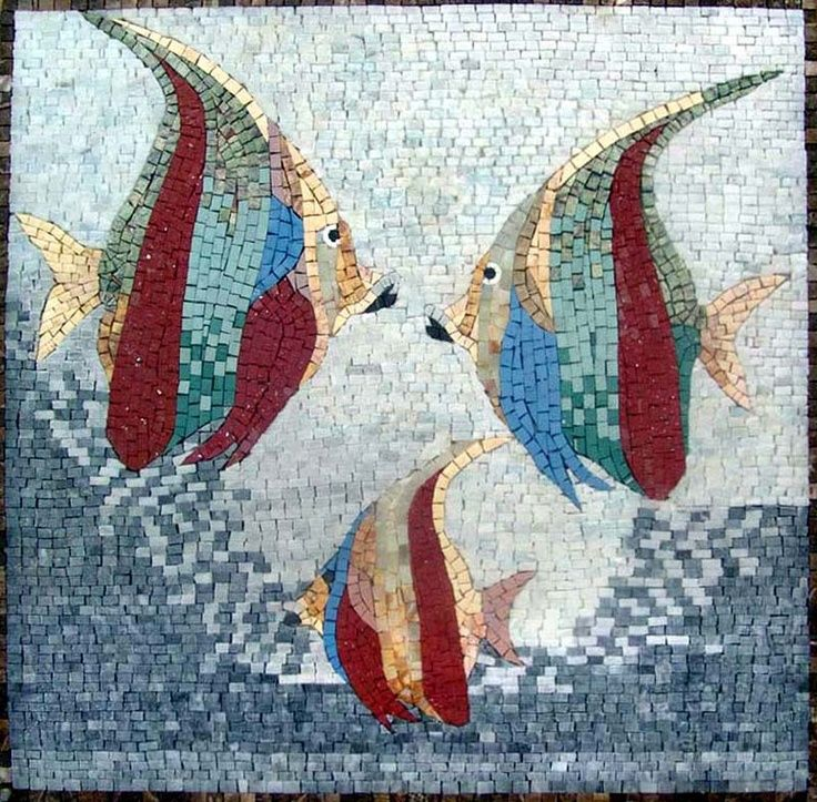Decorative Stone Tile Pictures Of Fish Mosiac Tile  An086 Marble Mosaic Fish Decorative