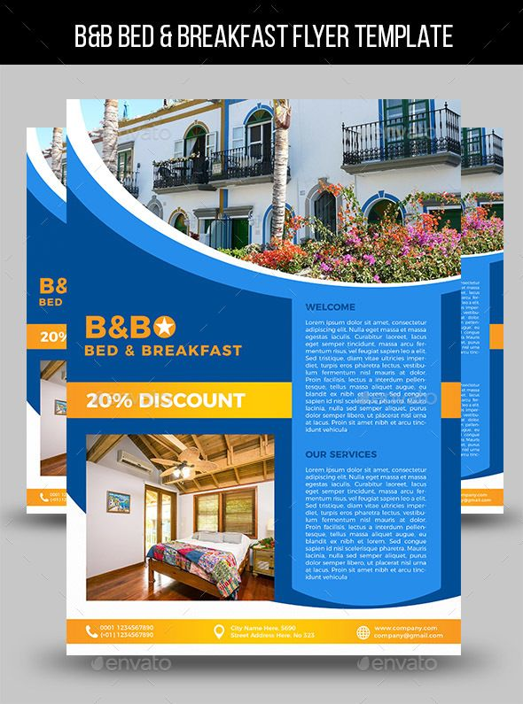 Bb Bed Breakfast Flyer Template Flyer Template Template And