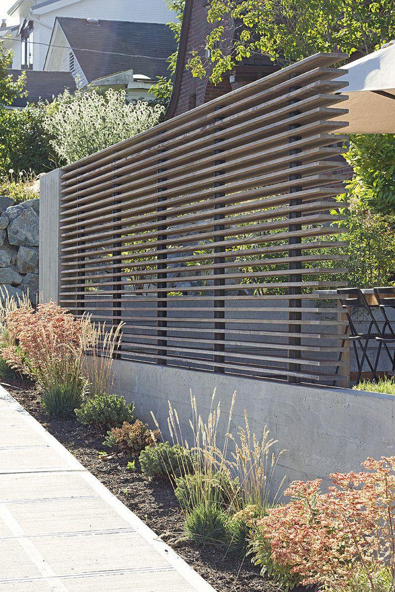 Fence design: modern fences and fences, photo 53