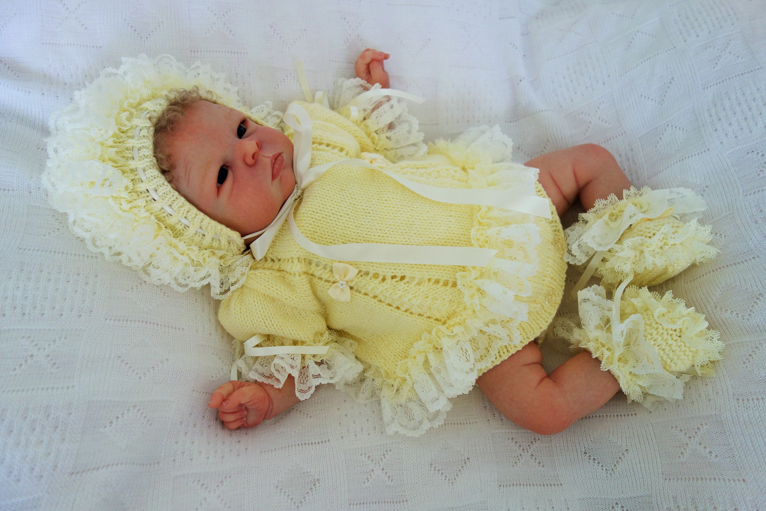 d81f7ddfe4ca Hand knitted frilly lace angel top dress