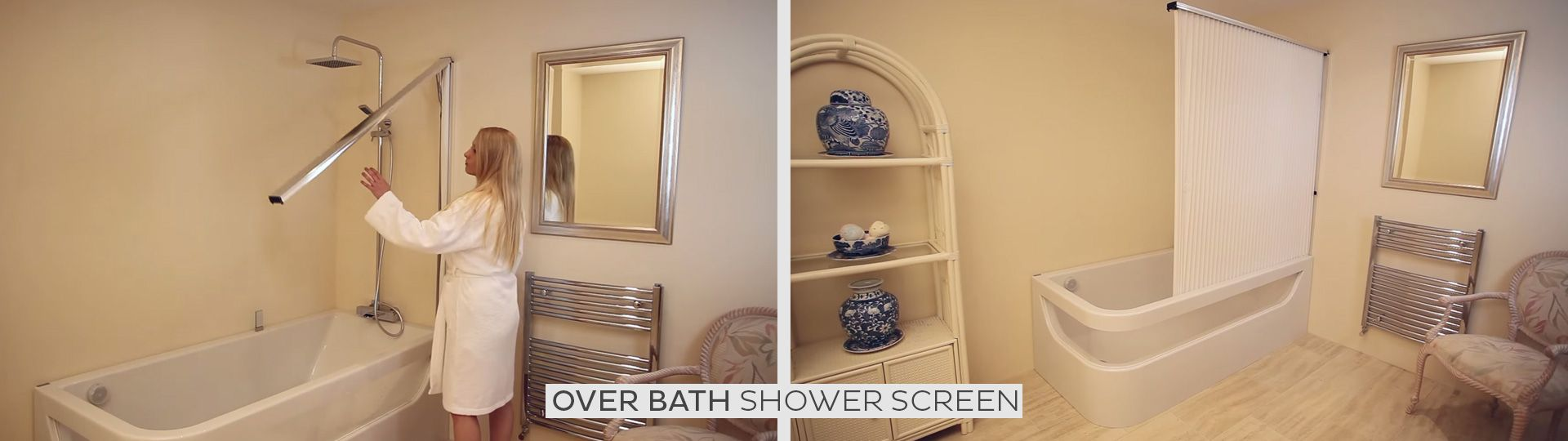 A Hidden Over Bath Shower Screen - Available at www ...
