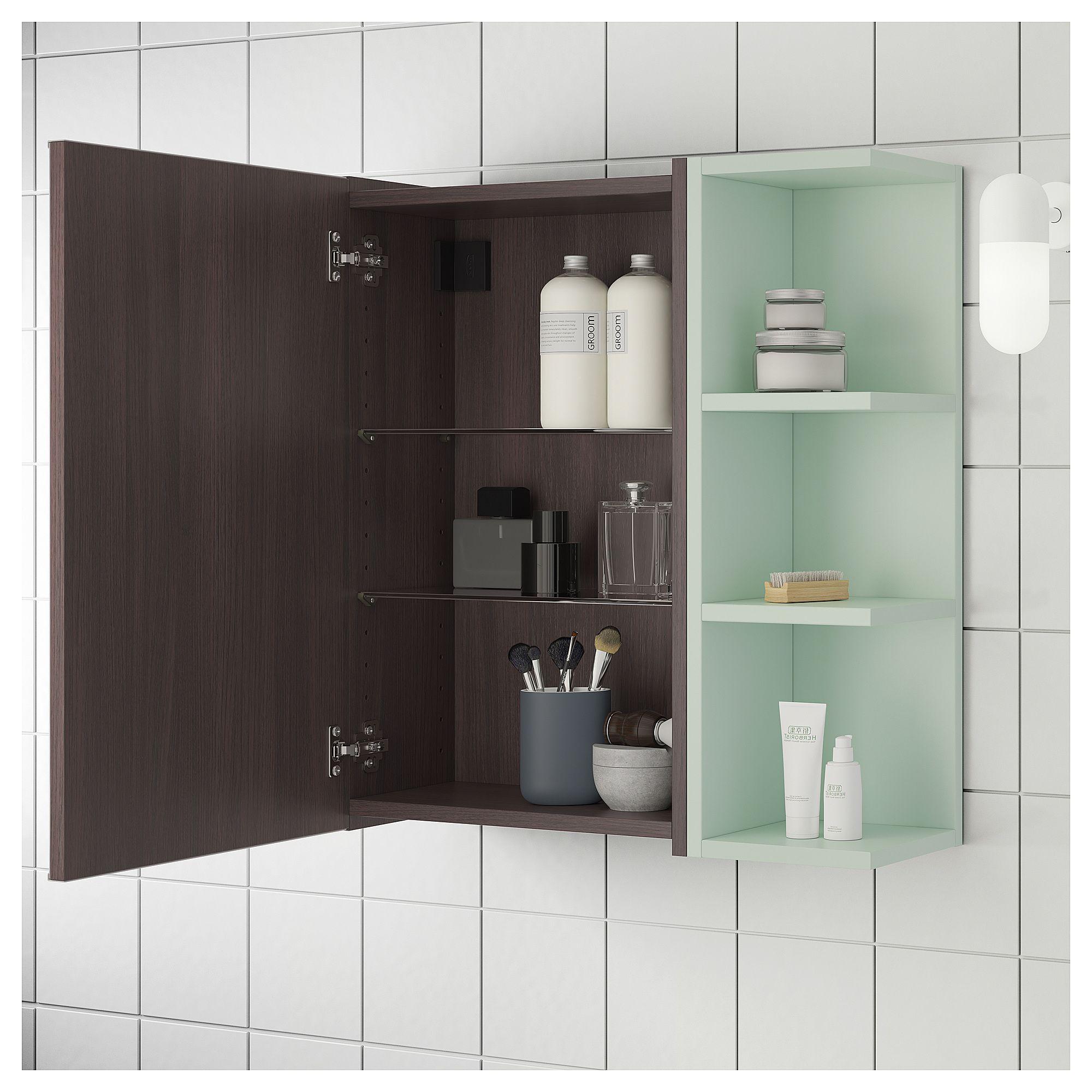 Ikea lillÅngen mirror cabinet door end unit blackbrown pale