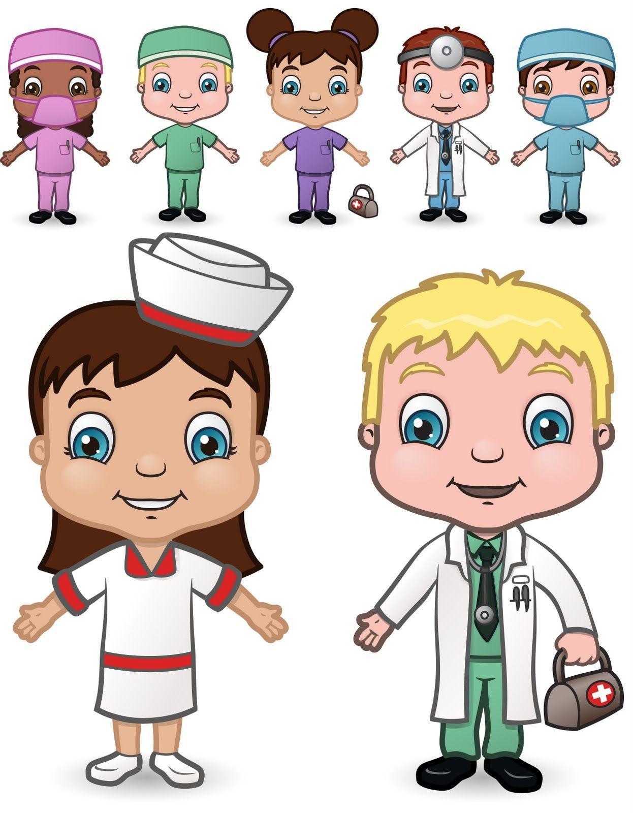 Картинки для детей врачи бывают разные
